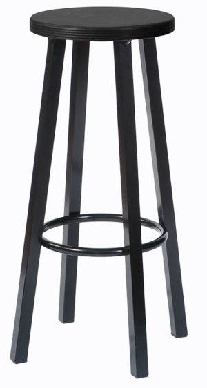 Barkruk 204H Zwart