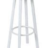 Barkruk 204H wit met metalen frame