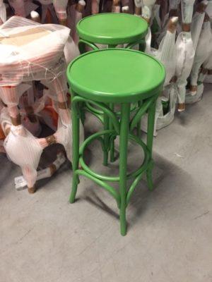 groene thonet barkrukken