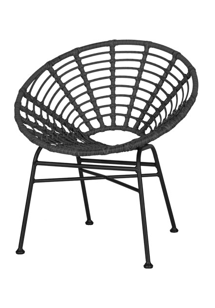 terrasstoel Jessy-zwart